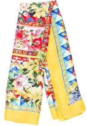Dolce & Gabbana Printed Silk Scarf w/ Tags