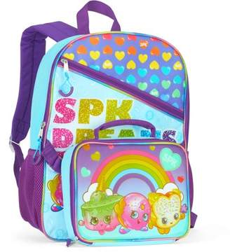 """Rainbow Shopkins 16"""" Full-Size Backpack With Detachable Lunch Bag"""