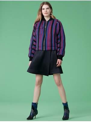 Diane von Furstenberg High-Waisted Flare Mini Skirt