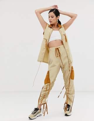Zya ZYA utility singlet jacket with contrast collar