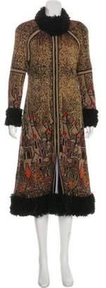 Chanel Paris-Moscou Fur-Trimmed Cardigan Coat