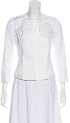 Prada Eyelet-Accented Structured Jacket w/ Tags