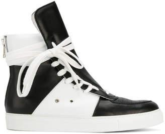 Kris Van Assche lace-up hi-top sneakers