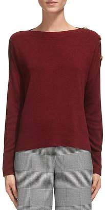 Whistles Shoulder Button-Detail Sweater