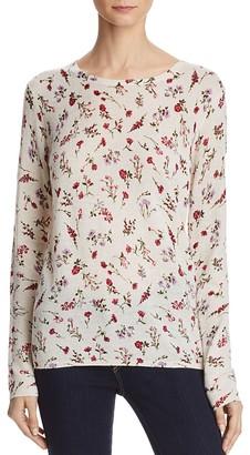 Joie Feronia Moonlit Floral Cashmere Sweater $298 thestylecure.com