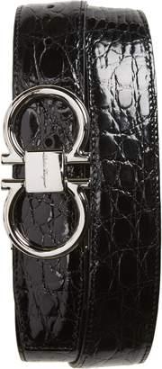 Salvatore Ferragamo Crocodile Leather Belt