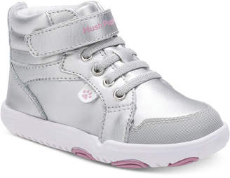 Hush Puppies Toddler Girls Buddy Silver Sneakers