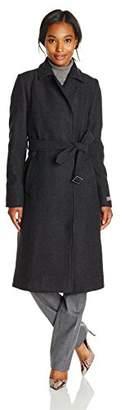 Cole Haan Women's Long Coat with Belt