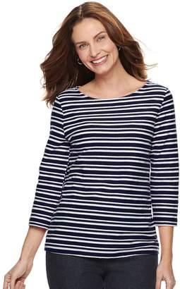 Croft & Barrow Women's Striped Textured Top