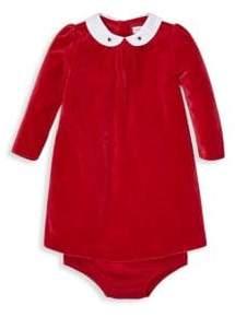 Ralph Lauren Baby Girl's Velour Collared Dress