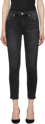 Amo Black High-Rise Stix Crop Jeans