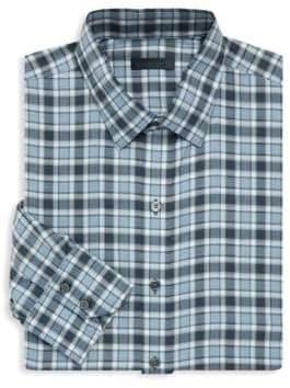 Zachary Prell Lobban Checkered Dress Shirt