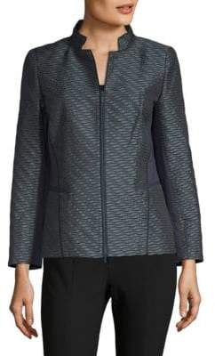 Lafayette 148 New York Jacquard Sweater Jacket