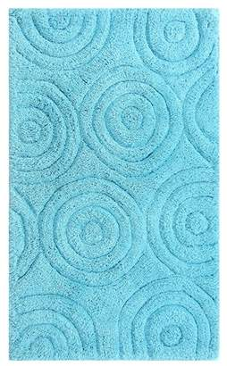 Castle Hill Aqua Circles Bath Rug