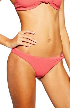Topshop Velour Knot Bikini Bottoms