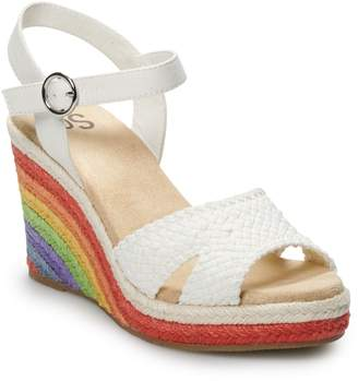 ec945679ef So SO Loveable Women's Wedge Sandals