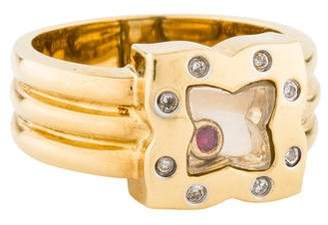 Ring 18K Diamond & Floating Stone Cocktail
