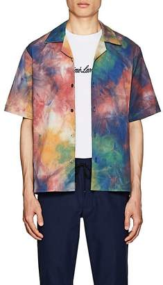 Leon Aime Dore Men's Leisure Tie-Dyed Cotton Shirt