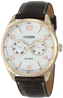 Citizen Men's Eco-Drive Stainless Steel and Leather Watch