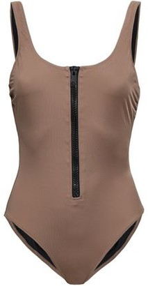 Solid & Striped The Anne Marie Zip-detailed Swimsuit