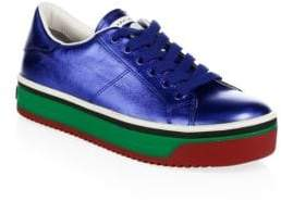 Marc Jacobs Empire Multicolored-Sole Leather Platform Sneakers