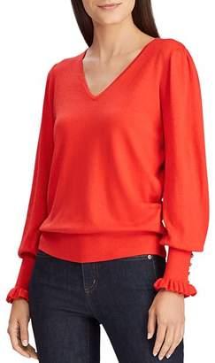 Ralph Lauren Button-Cuff Sweater