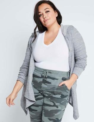 Splendid Flight Cardi Thermal Cardigan Sweater in Gray Size Large