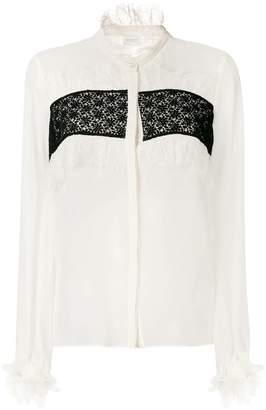 Giambattista Valli frill panel blouse