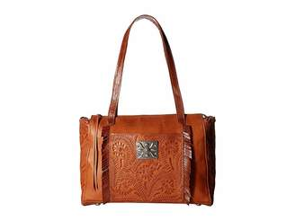 American West Annie's Secret Zip Top Tote w/ Secret Compartment
