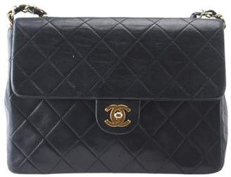 Chanel Classic Flap Vintage Quilted Black Leather Cross Body Bag