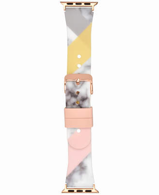 INC International Concepts I.n.c. Women's Marble & Color Block Silicone Apple Watch Strap, Created for Macy's