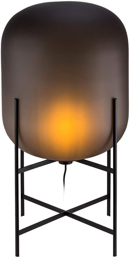 Pulpo - Oda Leuchte medium, smoky grey acetato / Untergestell schwarz