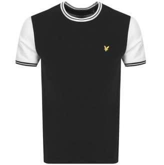Lyle & Scott Crew Neck Tipped T Shirt Black