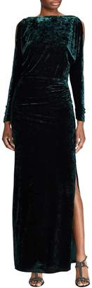 Lauren Ralph Lauren Velvet Long-Sleeve Gown