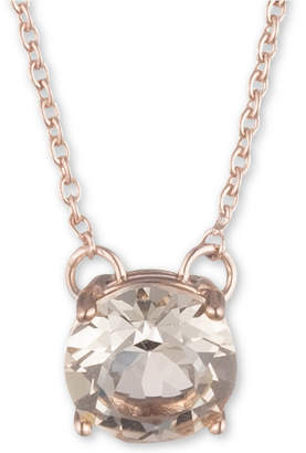 "Marchesa Rose Gold-Tone Cubic Zirconia Solitaire Pendant Necklace, 16"" + 3"" extender"