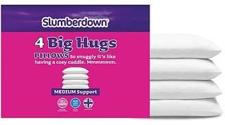 Slumberdown Big Hugs Medium Support Pillows - 4-pack
