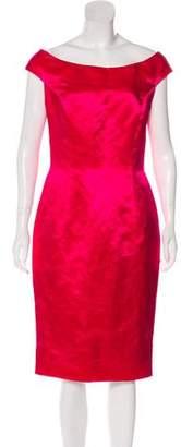 Christian Dior Off-The-Shoulder Satin Dress