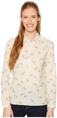 The North Face Barilles Pullover Shirt Women's Long Sleeve Button Up