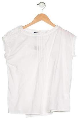 Polo Ralph Lauren Girls' Pleated Woven Top w/ Tags