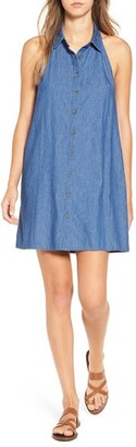 Women's Mimi Chica Chambray Shift Dress $48 thestylecure.com