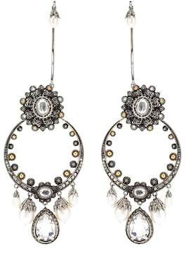 Alexander McQueen Armour clip-on earrings