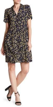 Mo:Vint Notch Collar Button Down Dress