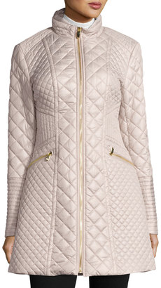 Via Spiga Diamond-Quilted Mid-Length Coat, Oyster $140 thestylecure.com