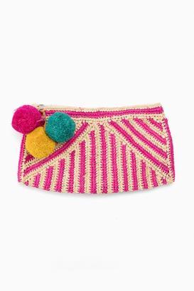 Mar y Sol Pink Sonia Striped Clutch $110 thestylecure.com