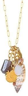 Chan Luu Women's Seashell & 18K Goldplated Sterling Silver Charm Necklace