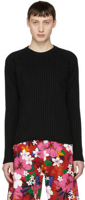 Ami Alexandre Mattiussi Black Knit Crewneck Sweater