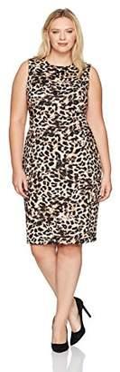Calvin Klein Women's Plus-Size Seamed Sleeveless Sheath Dress
