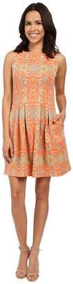 Christin Michaels Elyse Sleeveless Pleated Dress Women's Dress