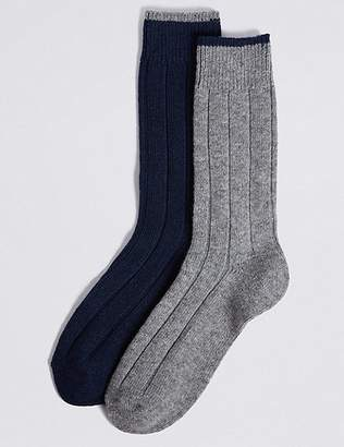 Marks and Spencer 2 Pack Wool Rich Thermal Socks