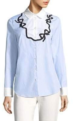 Max Mara Striped Button-Front Shirt